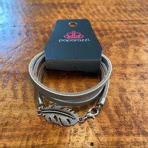 NWT Feather Charm Wrap Bracelet